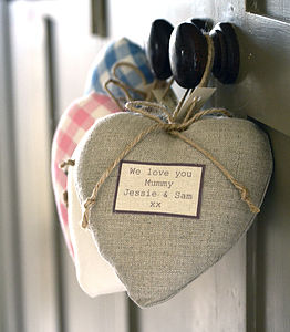 Personalised Lavender Hearts - wedding favours