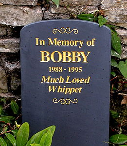 Personalised Round Top Slate Headstone - sculptures & ornaments