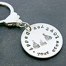 Personalised 'Your Crew Love You' Key Ring