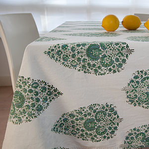 Hand Block Printed Tablecloth - table linen