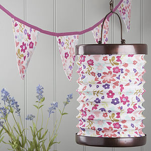 Floral Tea Light Lantern Or Bunting - bunting & garlands