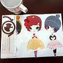 Dress Up Dolls Ballerina, Princess, Mouse Girl