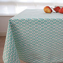 Hand Block Printed Leaf Tablecloth