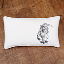 Rectangle Hare And Hedgehog Cushion