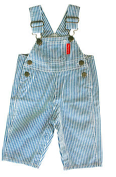 Stripe Cotton Dungarees