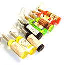 Miniature Bottles Of Wine Earrings