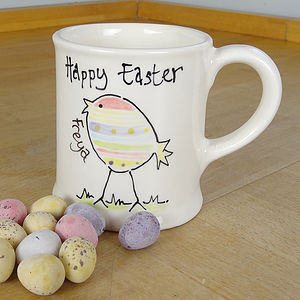 Personalised Hand Painted Easter Mug - easter home