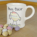 Personalised Hand Painted Easter Mug