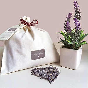'With Love' Giant Lavender Pouch - decorative accessories