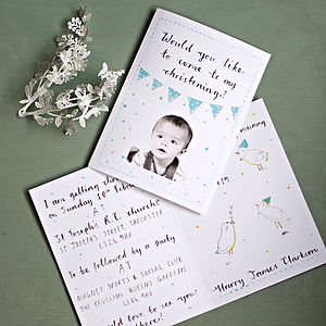 Personalised Christening Invitation - naming day & christening invitations