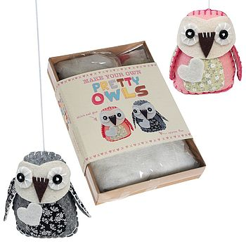 Make Your Own Feltcraft Owls Kit