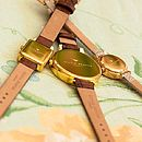 Flower Show Leather Watch