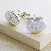Engraved Oval Cufflinks - valentine's day