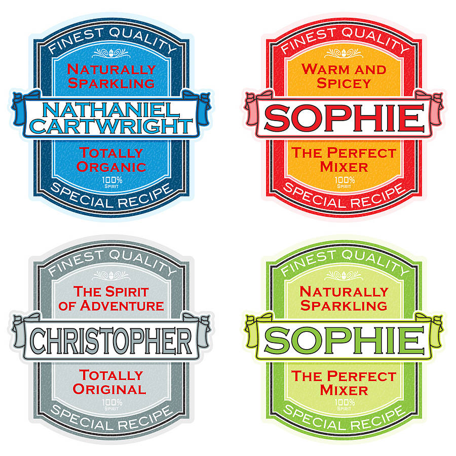 personalised spirit label print by just for you ...