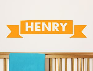 Children's Personalised Banner Wall Sticker