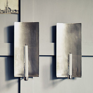 Abel Brushed Wall Sconce - candles & candlesticks