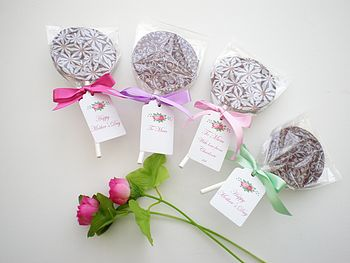 Personalised Mini Chocolate Lollipops