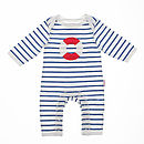 Striped Life Ring Sleepsuit