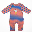 Striped Ice Cream Sleepsuit
