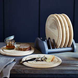 Six Scandinavian Breakfast Plates And Rack - tableware