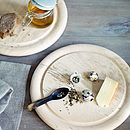 Six Scandinavian Breakfast Plates And Rack
