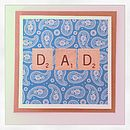 Paisley Letter Tile Father's Day Card