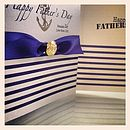 Breton Stripe Personalised Father's Day Card