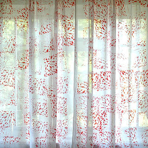 Petal Sheer Panel Curtains - soft furnishings