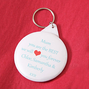 Personalised 'We Love Mum' Keyring - mother's day gifts