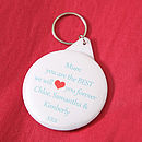 Personalised 'We Love Mum' Keyring