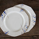 Two Art Deco Style Plates
