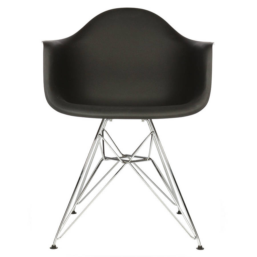 chair eames style chrome eiffel dining chair by ciel. Black Bedroom Furniture Sets. Home Design Ideas