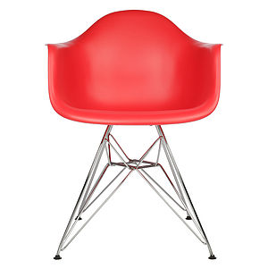 Chair, Eames Style, Chrome Eiffel Dining Chair
