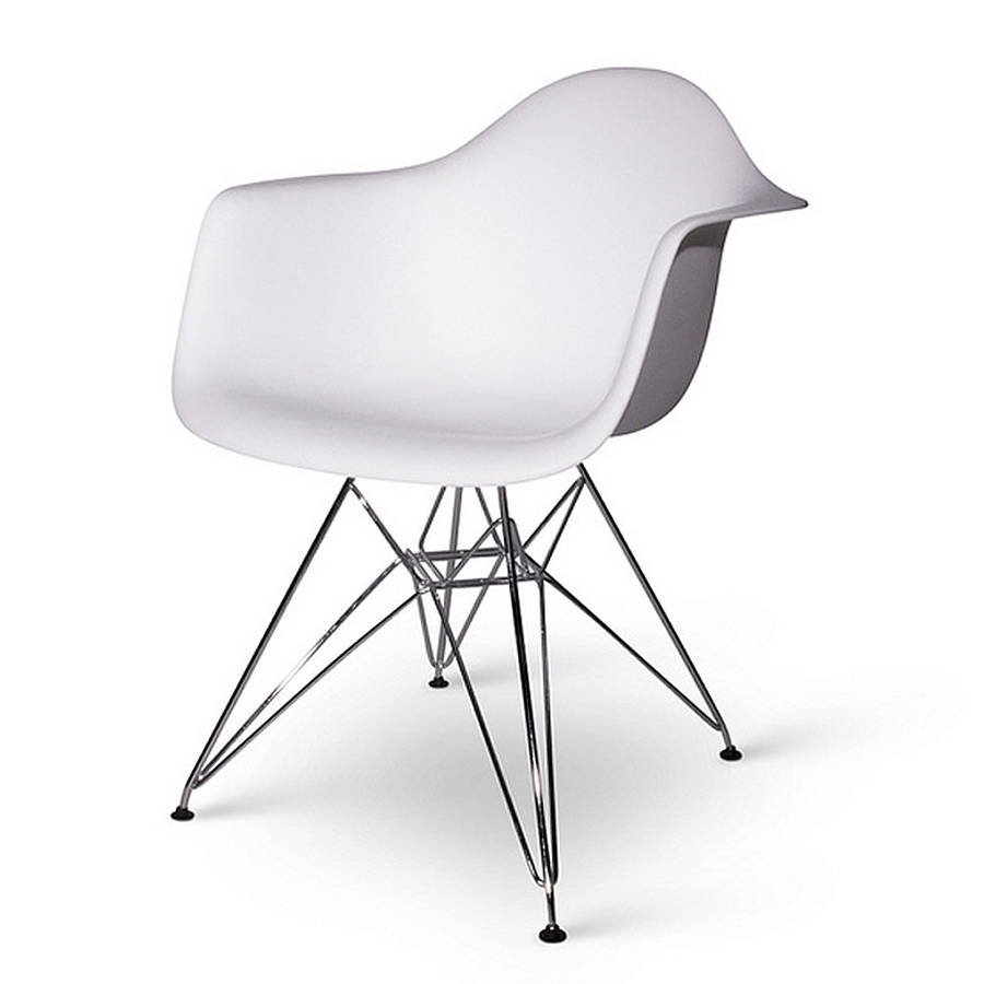 chair, eames style, chrome eiffel dining chair by ciel   notonthehighstreet com