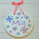 Personalised Child's Round Name Plaque