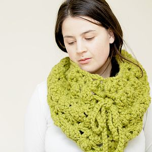 Lacy Crochet Cowl Cape Snood