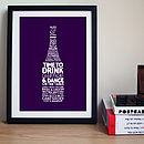 Personalised Champagne Celebration Print