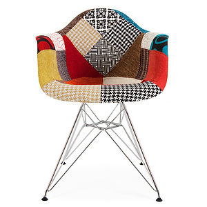 Retro Modernist Style Upholstered Armchair - furniture