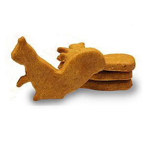 Peanut Butter Squirrel Dog Biscuits - dogs
