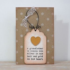 Grandfather Card And Keepsake - birthday cards
