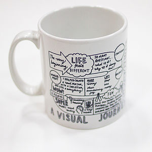 'A Visual Journey Through Fatherhood' Mug - crockery & chinaware