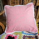 Gingham Cushion Cover