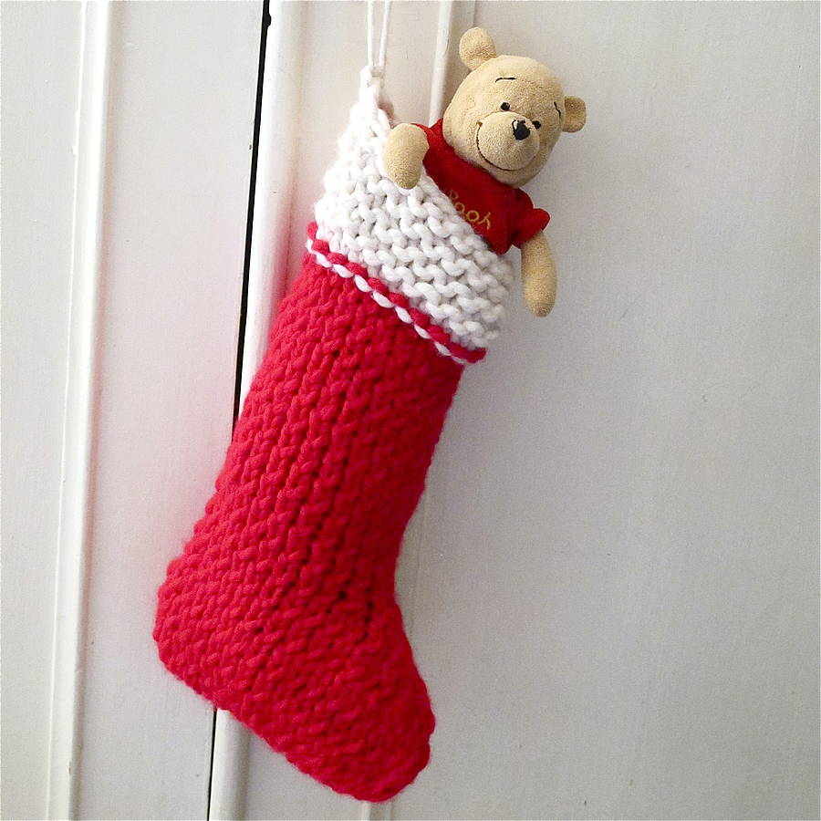 Plain Christmas Stocking Knitting Pattern : christmas stocking knit your own kit by edamay ...