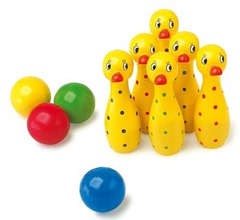 Child's Wooden Duck Skittles