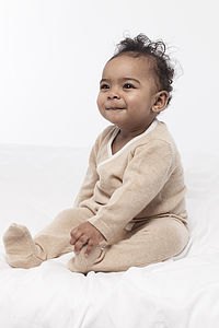 100% Pure Cashmere Ensemble - babygrows