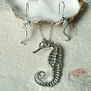 Seahorse Drop Earrings, Seaside Gifts