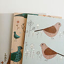 Set Of Three Bird And Floral Cards