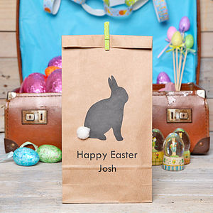 Personalised Easter Bunny Gift Bag - children's easter