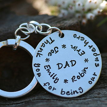 Personalised Dad Reflections Keyring