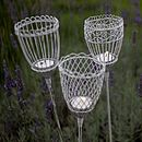Set Of Two Garden Lantern Stakes